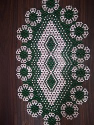 Beaded Centre Table Placemat, Size: 12x24 inches