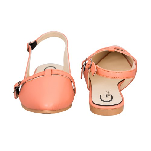 Gibelle Peach Ladies Stylish Belly Shoes