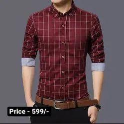 Cowl Neck Casual Wear Men Printed Shirt