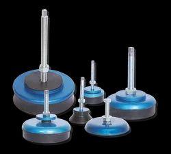 Blue & Black Vibration Isolators - Circular Mounts, Load Capacity: 100 To 2500 Kg