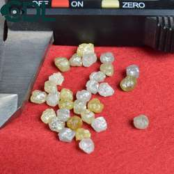 Roundish Light Yellow Rough Diamonds, Size 4.20 to 6.70mm, Size: 4.20mm To 6.70mm, Packaging Type: Box