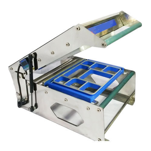 8 portion meal tray sealing machine and 5 portion meal tray