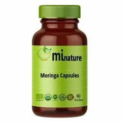 India 24 Months Green Vegan Moringa Capsules, Packaging Type: Bottle, Grade Standard: Medicine Grade