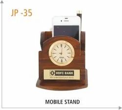 Wooden Multi User Mobile Stand
