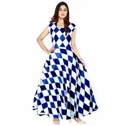 Girl Cotton Digital Printed Dress