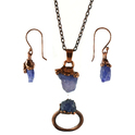 Tanzanite Pendant Earring Set