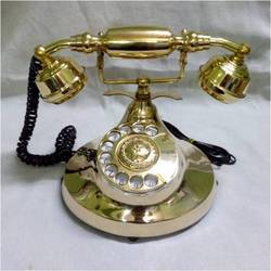 Antique Golden Polished Brass Phone