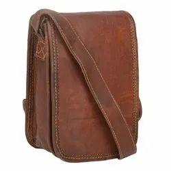 Vintage Brown Full Flap Genuine Leather Sling Bag