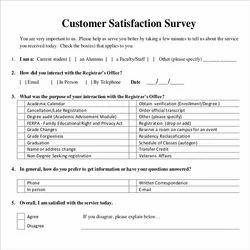 Customer Survey Form Processing (Form filling )