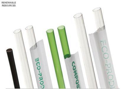 Plastic Disposable Eco Friendly Pla Cornstarch Straws