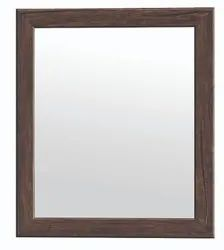 Glossy Black Square Glass Mirror, For Home
