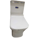 White Western Commode