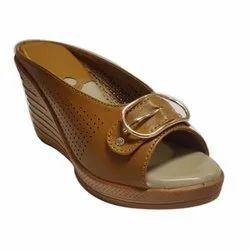 Brown Casual Wear Footwear Women Wedges, 36-42