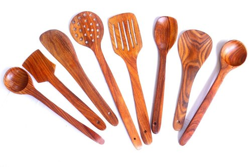 Superb Handmade Wooden Non Stick Serving And Cooking Spoon Kitchen Tools Utensil Set Of 8 Download Free Architecture Designs Grimeyleaguecom