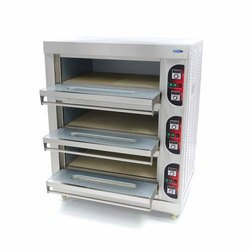 Electric Commercial Pizza Oven, Capacity: 6, 4HP