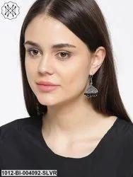 Classic Silver Tone Danglers Earrings