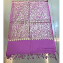 Pink Embroidered Stole