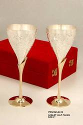 Goblet Wine Cup Set Of 2 Silver Plated