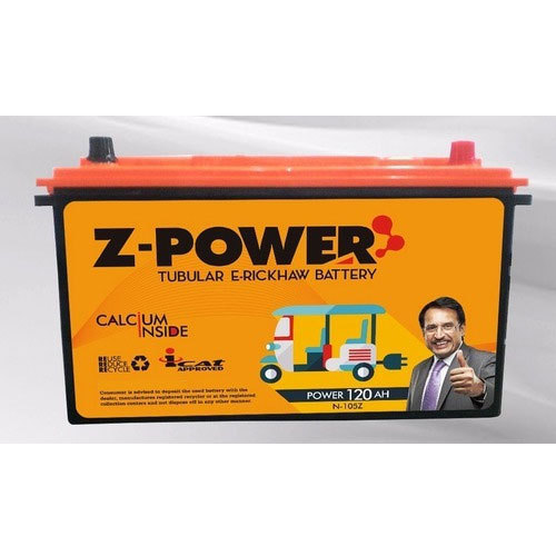 Z-Power E-Rickshaw Battery, Voltage: 12 V, Capacity: 100 to 130Ah