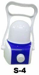 Pintron Plastic S4 LED Rechargeable Light, Battery Type: Lead-acid, Capacity: 1500 Mah