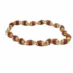 Rudraksha Beads Gold Capping Bracelet
