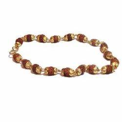 Rudraksha Beads Gold Capping Bracelet