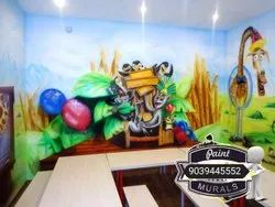 3d Wall Painting for Playschool