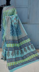 Bagru Hand Block Printed Cotton Saree