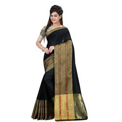 Ladies Cotton Silk Saree with Blouse Piece