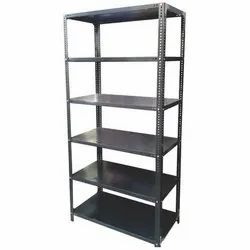 Rectangular Powder Coated MS Slotted Angle Racks, For Storage, 78x36x15 Inch