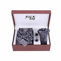 Neck Tie Pocket With Pocket Square Set
