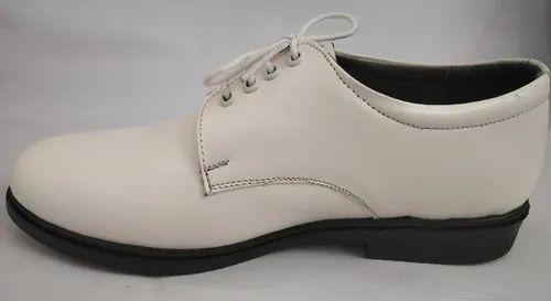 White Indian Navy Uniform Shoes, Size