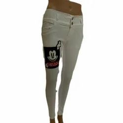 White Ladies Patch Work Jeans