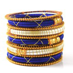 Indian Handcraft Colorful Exquisite Silk Thread Bangles