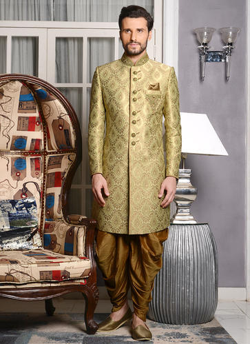 Green Traditional Wear Indo Western Outfit For Wedding Wear Rs 7500