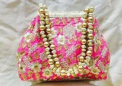 Zardosi Handwork Potli Bag