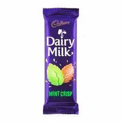 Purple Cadbury Dairy Milk Mint Crisp 80g, Packaging Type: Plastic