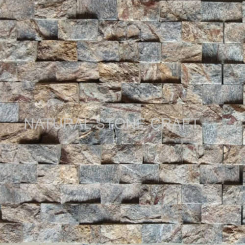 Natural Stone Brown Natural Decorative Stone Wall Cladding, Size ...