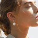 Classic Fashion Gold Plated Elegant Pearl Gemstone Women Earrings