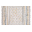 Faded Geometric Print Area Rug