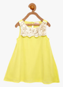 Yellow Carl Jones Girls Cut Sleeve Dress