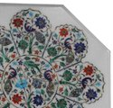 Handcrafted Indian Marble Inlay Table Top