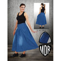 Ladies Denim Casual Wear Long Skirts, Size: 28-36