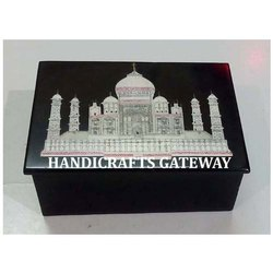 Black Marble Inlay Taj Mahal Box
