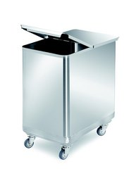 Trolley Type Stainless Steel Garbage Bin