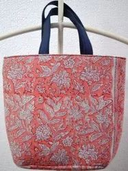 Hand Block Printed Cotton Hand Bag