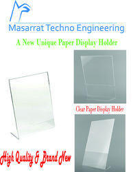 Clear Display Acrylic Paper, Photo Frame Holder, A4 Size