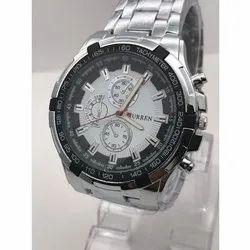 Curren Round Mens Analog Dial Wrist Watch