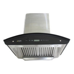 Felixe Auto Clean Kitchen Chimney Diamond - 60 cm (2 Ft) with Curved Glass, Stainless Steel in 1100
