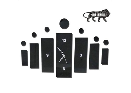 Acrylic Fancy Analog Wall Clock For Living Room Bedroom Wall Home And Office Black At Rs 400 Piece Surat Id 22430078362